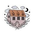 simple boho home sweet home welcome vector image