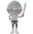 single character knight on white background vector image vector image