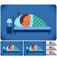 Sleeping Man vector image vector image