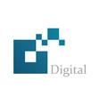 square digital logo vector image vector image