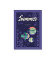 summer poster trendy seasonal background with vector image