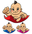 super baby asian vector image vector image