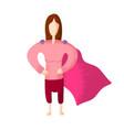 superhero or supergirl beautiful smiling blonde vector image