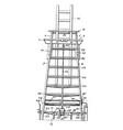 tall ladder vintage vector image vector image