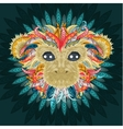 Tattoo design color head of the monkey vector image vector image