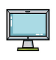 technology screen electronic equipment design vector image