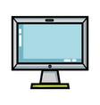 technology screen electronic equipment design vector image