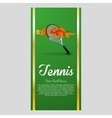 Tennis design Sport icon Isolated vector image vector image