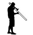 trombone player silhouette musician artist man vector image vector image