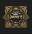 vintage label for packing western style with vector image vector image