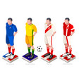 world cup soccer uniform vector image vector image