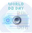 world dj day abstract dj radio music vector image