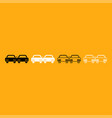 crashed cars it is white icon vector image