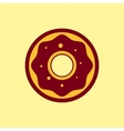 Fast food icon Donut pictogram vector image