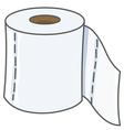 toilet paper vector image
