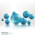 3d molecule model creative design vector image