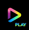 colorful icon play logo isolated background vector image