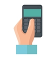 hand human with calculator vector image