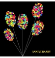 modern abstract circle balloons on dark vector image
