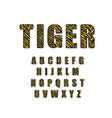 90 s retro alphabet font tiger vintage alphabet vector image
