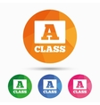 A-class sign icon Premium level symbol vector image vector image