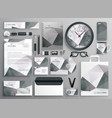 abstract gray business stationery template vector image vector image