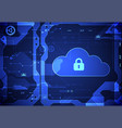 abstract security cloud technology background vector image