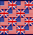 American and British seamless pattern vector image vector image