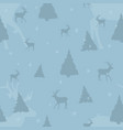 aquamarine seamless christmas pattern with deer vector image vector image