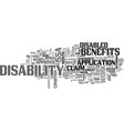 are you entitled to claim disability benefits vector image vector image