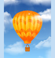 baloon realistic composition vector image vector image
