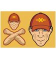 baseball cap head vector image