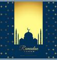 beautiful golden ramadan kareem background vector image vector image