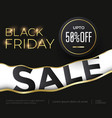 black friday sale luxury banner with golden text vector image