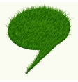 Bubble for speech with grass texture isolated on vector image
