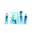 business colleagues - flat design style vector image vector image