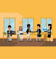 business meeting asian and african businessmen vector image vector image
