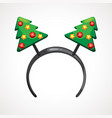 cartoon headband icon with christmas tree shape vector image vector image