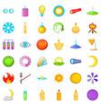 circle icons set cartoon style vector image vector image