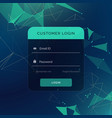 creative login form ui template for your web or vector image vector image