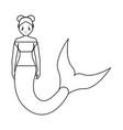 cute smiling mermaid ico vector image
