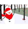 cute snowman merry christmas card vector image vector image