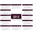 Desk calendar 2015 template vector image