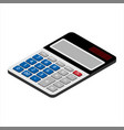 digital calculator isometric view isolated on vector image