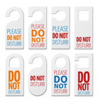 do not disturb realistic plastic blanks vector image