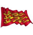 Englands Royal Baner Flag vector image vector image