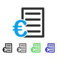 euro pricelist flat icon vector image