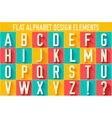 flat colorful letter of the alphabet design vector image