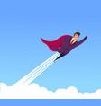 flat flying business heroes man superhero vector image
