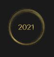 golden magic christmas circle 2021 vector image